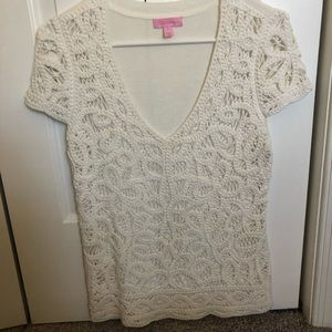 Lilly Pulitzer Size Small Crochet Top